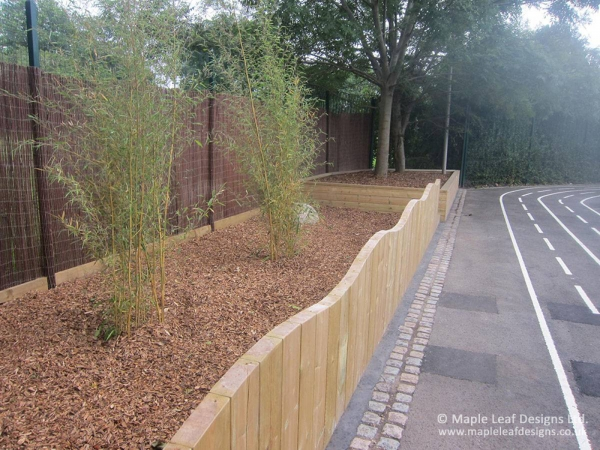 Timber Stockade Wave Top Fencing