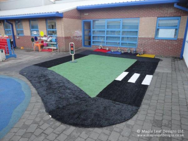 Artificial Grass Roadway