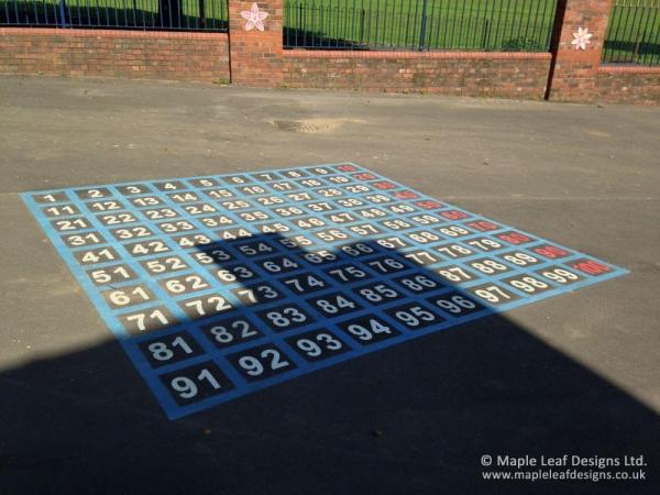 1-100 Number Grid Markings