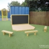 Chalkboard, Deck Stage & Seating