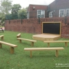 Chalkboard, Deck Stage and Seating