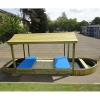 Large Lockable Sandpit Play Boat