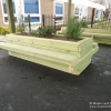 Rectangular Planter with Double Seats