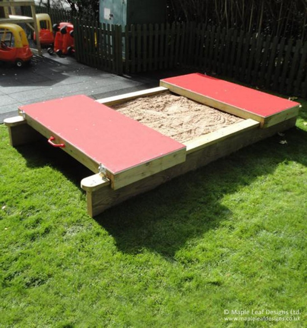 Standard Lockable Sandpit with HDPE Rolling Lids