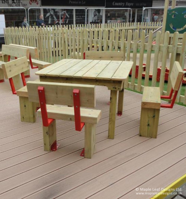 Woodland Square Table and Seats
