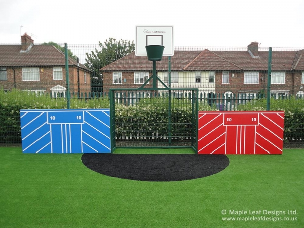 Mini MUGA Goal with Basketball Net