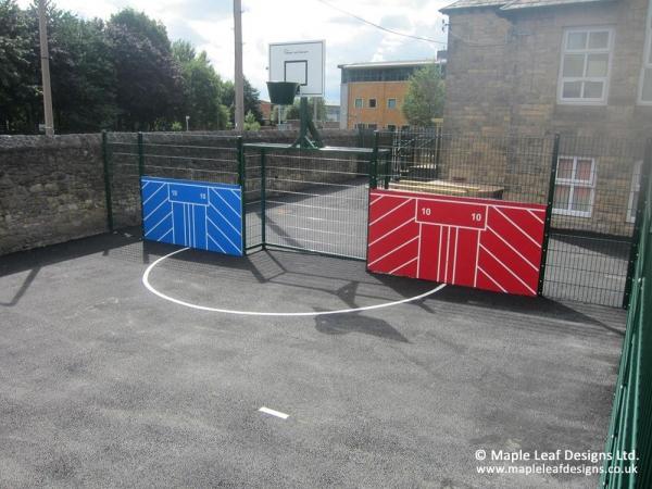 Mini MUGA with Sides and Basketball Hoop