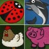 Artificial Grass Animals