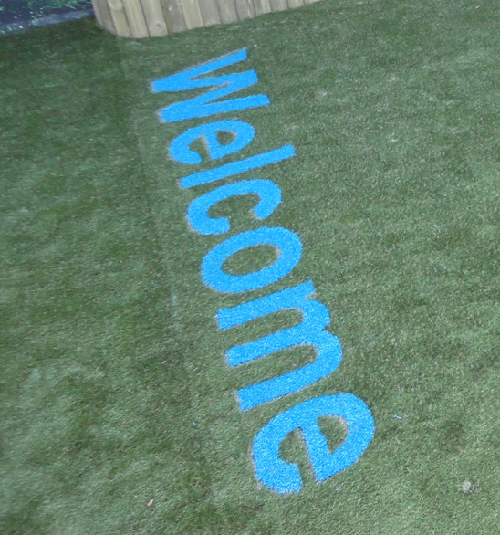 Artificial Grass Lettering