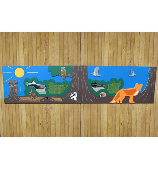 Large Tactile Woodland Panel