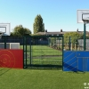 Mini MUGA with Sides and Basketball Hoops of different Heights