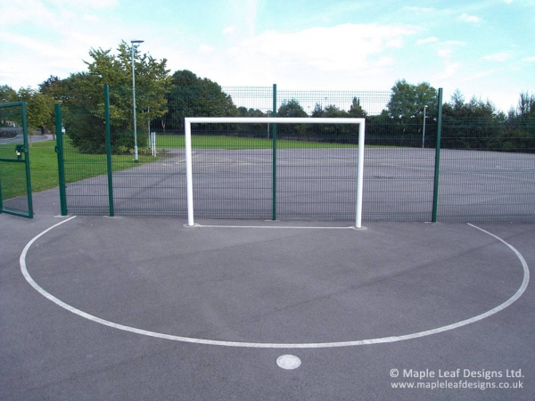 Metal Goal Posts in White