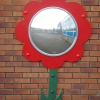 Bubble Flower Mirror with Stem