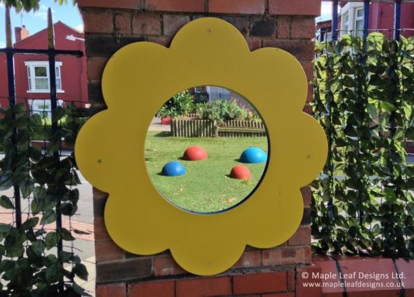 Flat Flower Mirror