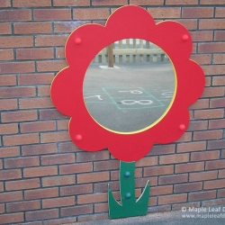 Flower Flat Mirror with Stem