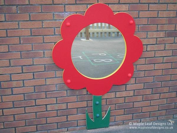 Flower Flat Mirror with Stem