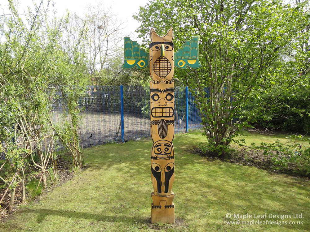 Native American Totem Pole By Maple Leaf Designs The One