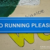 No Running School Sign
