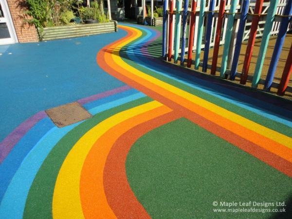 Coloured Wetpour Safety Surfacing