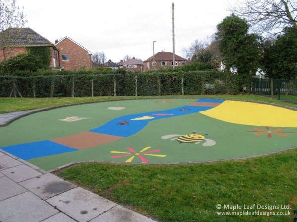 Patterned Wetpour Safety Surfacing