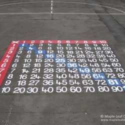 Multiplication Grid Markings