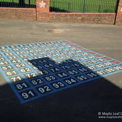1-100 Number Grid Markings