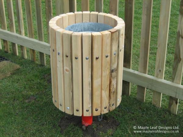 Timber Strip Bin
