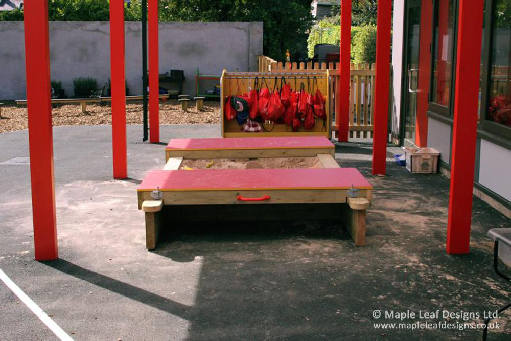 Parkroyal Primary School Lockable Sandpit with HDPE Lids
