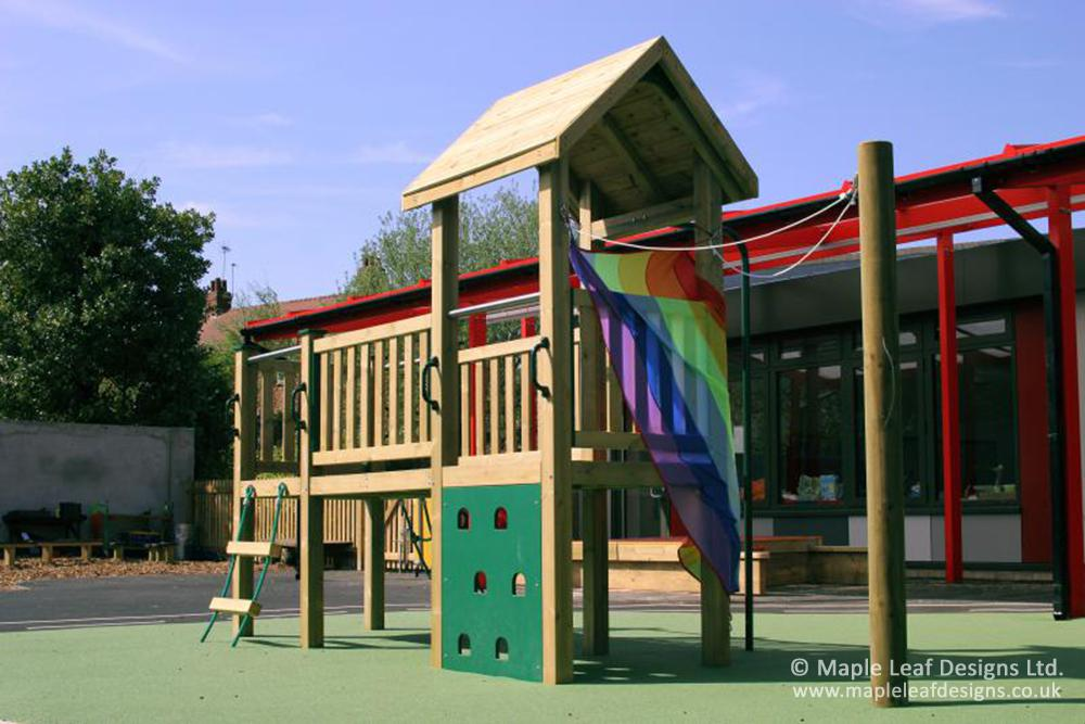 Parkroyal Primary School Bespoke Wildwood Play Tower