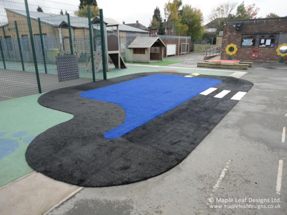 Broad Oak County Primary Artificial Grass Trackway