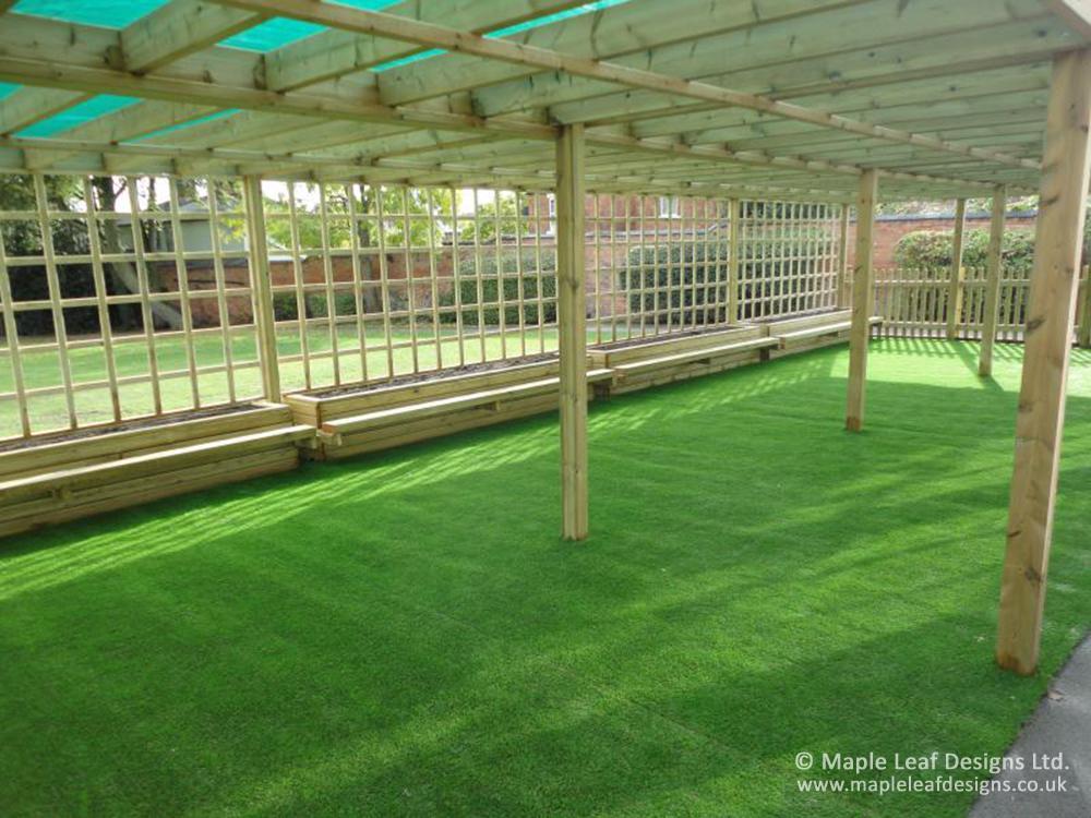 St Joseph's CP Outdoor Teaching Area