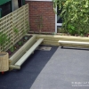 Rectangular Planter with Bench