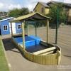 Large Lockable Sandpit Play Boat