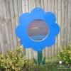 Flat Flower Mirror with Stem