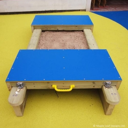 Mini Lockable Sandpit with HDPE Lids