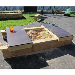 Mini Lockable Sandpit with Hexadeck Lids