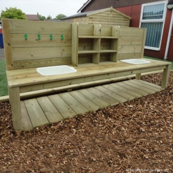Rustic Mud Kitchen
