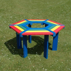 Rainbow Recycled Tree Seat