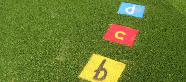 Artificial Grass Alphabet