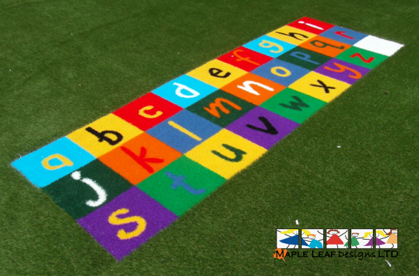 Artificial Grass Alphabet Grid